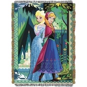 Northwest Disney Frozen Two Worlds One Heart Woven Tapestry Throw