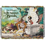 Northwest Disney Jungle Book King Louie Woven Tapestry Throw