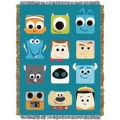 Northwest Disney Pixar Pixarland Woven Tapestry Throw