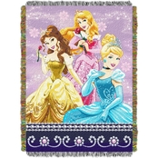 Northwest Disney Princess Sparkle Dream Woven Tapestry Throw