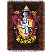 Northwest Harry Potter Gryffindor Crest Woven Tapestry Throw