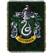 Northwest Harry Potter Slytherin Shield Woven Tapestry Throw