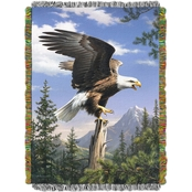 Northwest Hautman Bros. Eagle Perch Woven Tapestry Throw