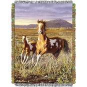 Northwest Hautman Bros. Running Pintos Woven Tapestry Throw