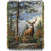 Northwest Hautman Bros. King Stag Woven Tapestry Throw