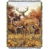 Northwest Hautman Bros. Royal Pair Woven Tapestry Throw