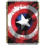 Northwest Marvel Comics Star Shield Woven Tapestry Throw