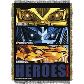 Northwest Transformers 4 Hero Slash Woven Tapestry Throw