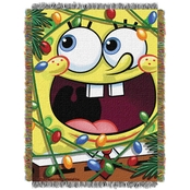 Northwest SpongeBob Fa La La Bob Woven Tapestry Throw