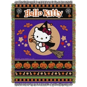 Northwest Hello Kitty: Witchy Kitty Woven Tapestry Throw
