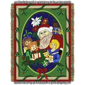 Northwest Blitzen Holiday Woven Tapestry Throw
