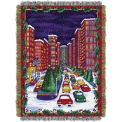 Northwest Holiday City Woven Tapestry Throw