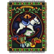 Northwest Holiday Hobby Horse Woven Tapestry Throw