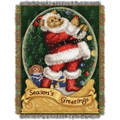 Northwest Snowglobe Teddy Woven Tapestry Throw