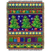 Northwest Tree Festivity Woven Tapestry Throw