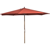 Jordan 9 Ft. Wooden Market Umbrella