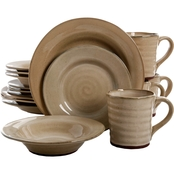 Gibson Home Elite Mariani Taupe 16 Pc. Dinnerware Set