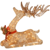 National Tree Company 31 in. Pre Lit Resting Reindeer