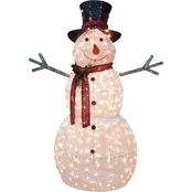 National Tree Company 60 in. Snowman Decoration with Warm White LED Lights