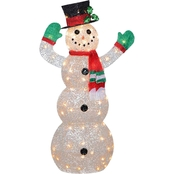 National Tree Company 48 in. Snowman Decoration with Clear Lights