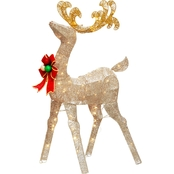National Tree Company 48 in. Reindeer Decoration with Clear Lights