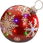 National Tree Company 18 in. Pre Lit Ball Ornament Decoration