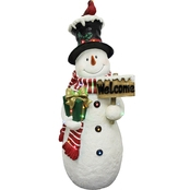 National Tree Company 28 in. Pre Lit Snowman Decoration