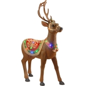 National Tree Company 49 in. Pre Lit Standing Reindeer