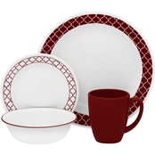 Corelle Crimson Trellis 16 pc. Dinnerware Set