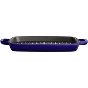 Martha Stewart Collection 11 In. Enameled Cast Iron Grill Pan