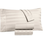 Charter Club Damask Stripe Supima Cotton 550-Thread Count 4-Pc. Sheet Set