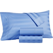 Charter Club Home Damask Stripe Supima Cotton 550 Thread Count 4 pc. Sheet Set