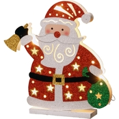 National Tree Co. Pre Lit 12 In. Wooden Santa