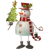 National Tree Co. 10 In. Metal Bobble Snowman