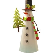National Tree Co. 12 In. Metal Snowman Character