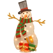 National Tree Co. Pre Lit 31 In. Tinsel Snowman