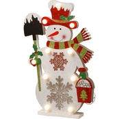 National Tree Co. Pre Lit 17 In. Wooden Snowman