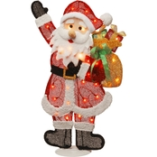 National Tree Co. Pre Lit 31 In. Tinsel Santa