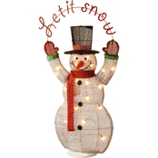 National Tree Co. Pre Lit 36 In. Tinsel Snowman