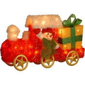 National Tree Co. Pre Lit 23 In. Tinsel Train with Gift