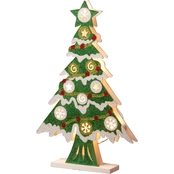 National Tree Co. Pre Lit 17 In. Wooden Christmas Tree