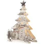 National Tree Co. 16 In. Lighted Tree Snowman Scene