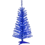 National Tree Company 4 ft. Tinsel Tree with Clear Lights