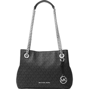 Michael Kors Jet Set Chain Medium MK Signature Messenger Bag