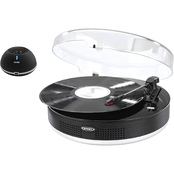 Jensen 3 Speed Stereo Turntable with Metal Tone Arm, Bluetooth Transmit