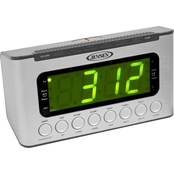 Jensen AM/FM Digital Dual Alarm Clock Radio with Wave Sensor