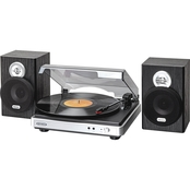 Jensen 3 Speed Turntable with External Speakers