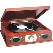 Studebaker Wooden 3 Speed Turntable with Cassette and AM/FM Radio