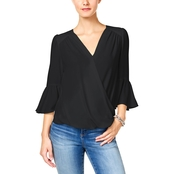 INC International Concepts Bell Sleeve Surplice Top
