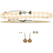 Two Choker and Earring Trio Set